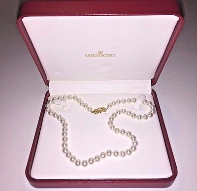 Mikimoto Cultured Pearl Necklace with Matching Earings set- Appraisal Attached