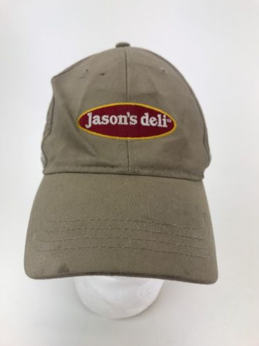 Jason's Deli  Hat Cap Employee Work Sewn Logo Adjustable Restaurant