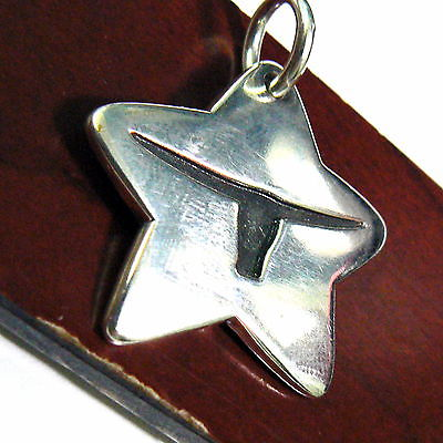 James Avery Retired Longhorn Star Sterling Silver Pendant
