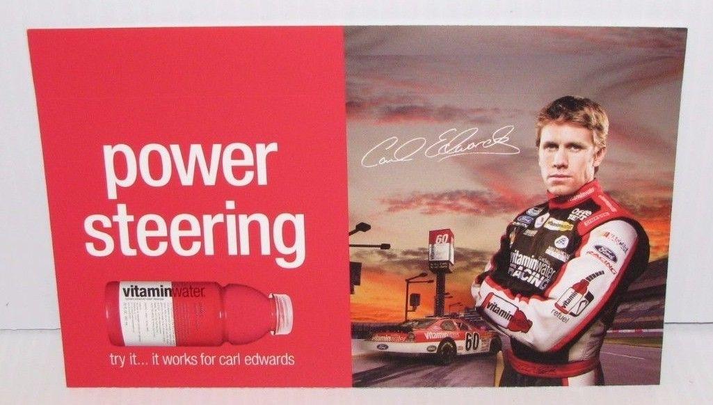 CARL EDWARDS VITAMIN WATER SIGN NASCAR