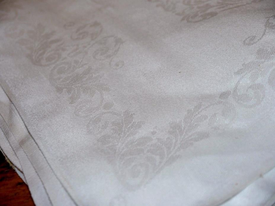 5 Antique Irish Damask Linen Napkins Hand Hemmed Makers Mark Vintage