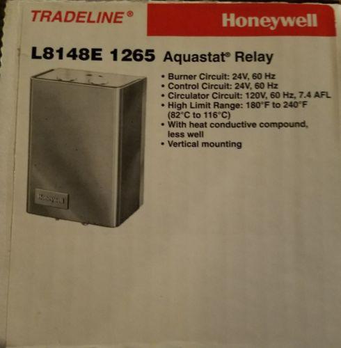 HONEYWELL L8148E1265  AQUASTAT HIGH LIMIT RELAY L8148E