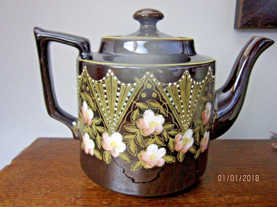 Antique 1887-1912  S.J.B (Samuel Johnson Burslem) Ornate Teapot Made in England