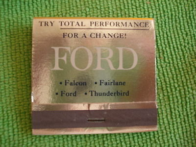 NOS 1964 Ford Motor Company Oversize Matchbook/Pre-Mustang