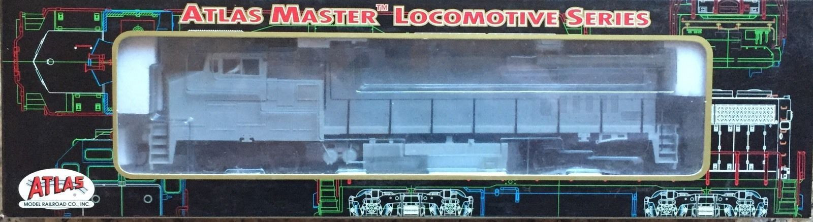 Atlas Dash 8-40BW Locomotive Undecorated (Gullwing Cab)  No 9051