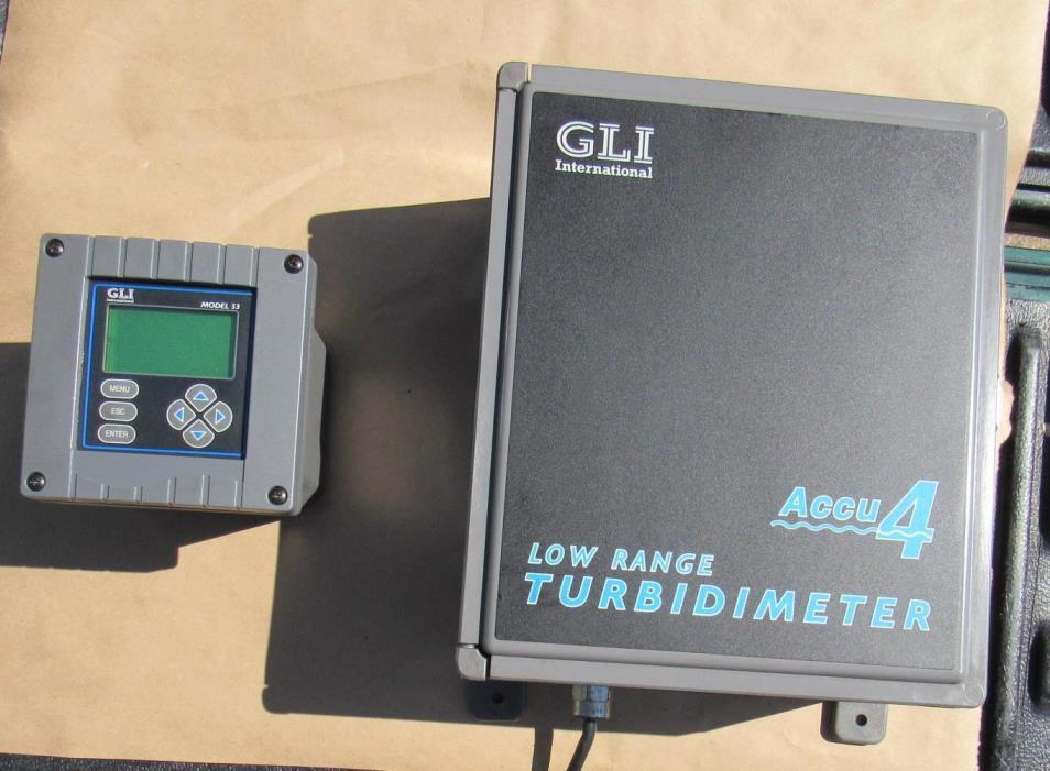 GLI Accu 4 model 8320 and  model 53 analyzer flowmeter turbidity