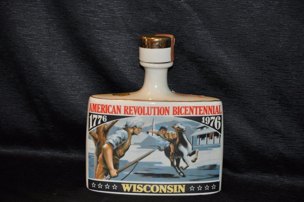 Vintage 1976 EARLY TIMES WISCONSIN American Revolution BICENTENNIAL Decanter