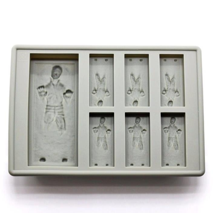 Star Wars Han Solo In Carbonite Ice Cube Cocolate Silicone Mould Baking Tray