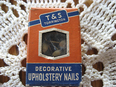 Box Vtg Decorative Upholstery Nails T & S Torrington Turner Seymour Sharp Point