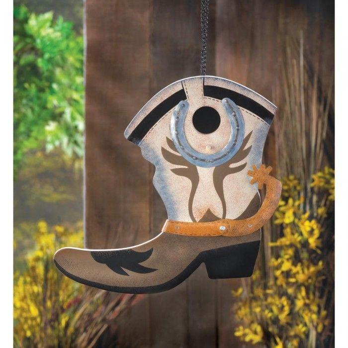 Western Cowboy Decorative Boot BirdHouse