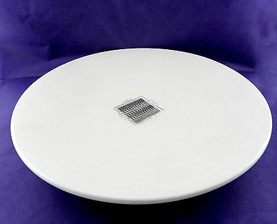Packard's Preston Duwyenie Pottery White Plate with Sterling Silver 7.5