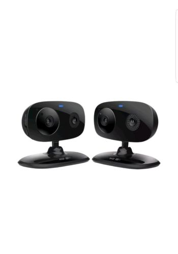 Motorola FOCUS66-BLK2 Wi-Fi HD Home Monitor Camera - 2 Pack (Black) Two Pack