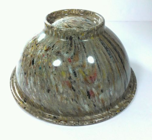 Vintage Texas Ware #111 Confetti Splatter Melmac Bowl Melamine