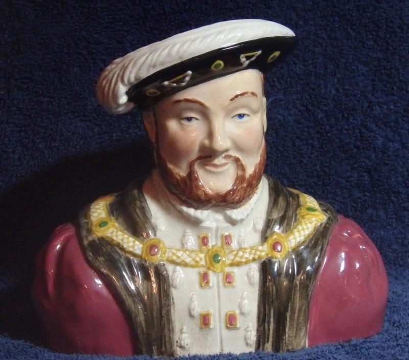 VINTAGE GLAZED PORCELAIN KING HENRY VIII WOODS & SONS PORTRAIT JUG ENGLAND MADE