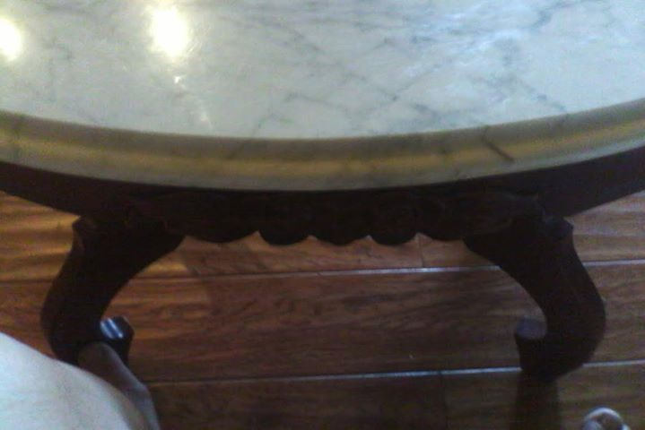 Beautiful Antique Mahogany Marble Top Coffee Table