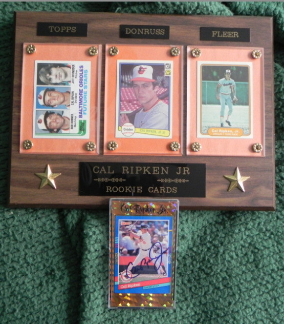 Cal Ripken Jr. Topps Donruss Fleer ROOKIE card plaque MINT SIGNED AUTOGRAPH card