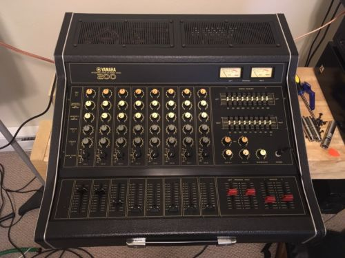 Vintage Yamaha EM-200B 8 Channel Mixer Amp W/ Spring Reverb & Road Case Included