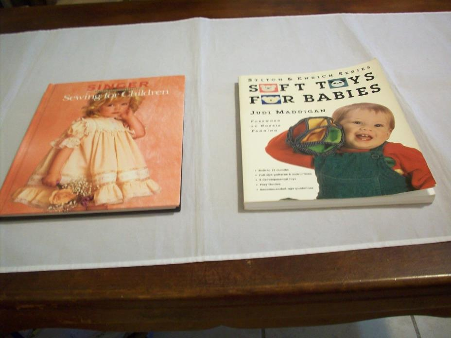Books Craft (2): 1-Sewing for Children Singer & Soft Toys for Babies (#438)