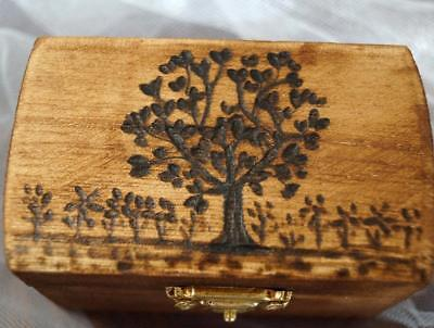 Rustic Wedding Wood Box Garden of Eden TREE Love Birds Brown Bearer box Monogram