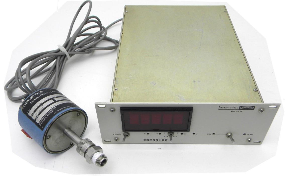 Datametrics Dresser Type 1500 Pressure Controller and Barocel Sensor 1000 Torr