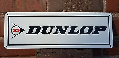 DUNLOP Tires Shop SIGN Racing Tire Service Center Parts Advertising Mechanic 7da