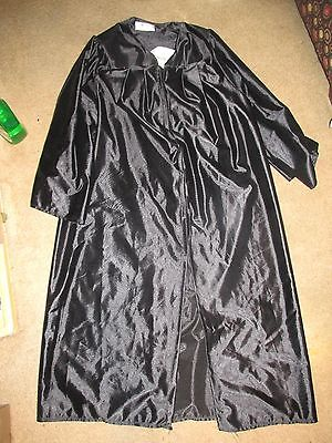 Black Graduation Gown Unisex 5'6 to 5'8 Made in the USA MADE BY BALFOUR ACADEMY