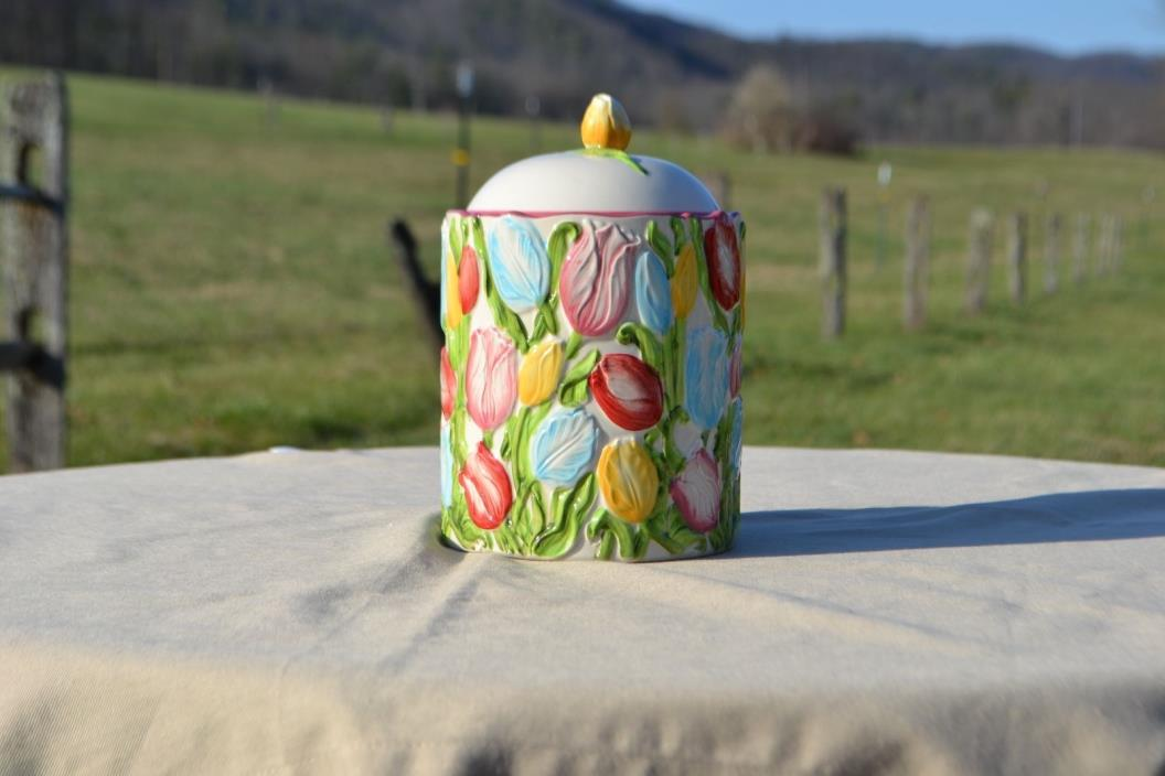 Temp-tations Figural Floral Canister - Tulips