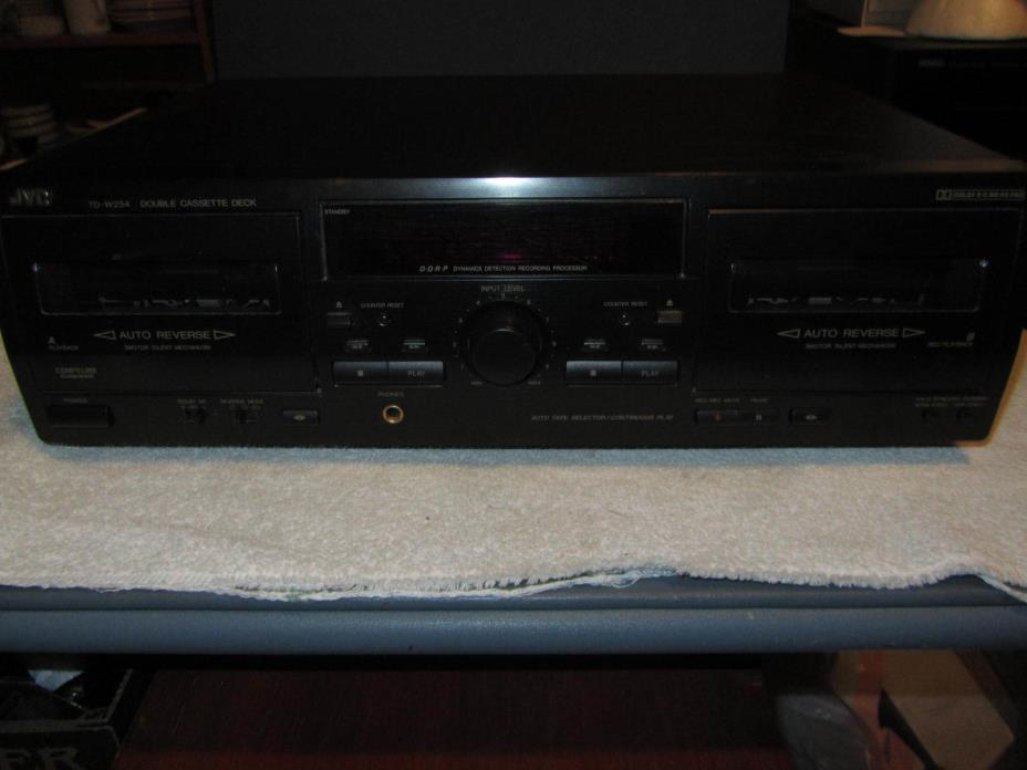 JVC Double Cassette Tape Player Deck TD-W254 Audio Stereo