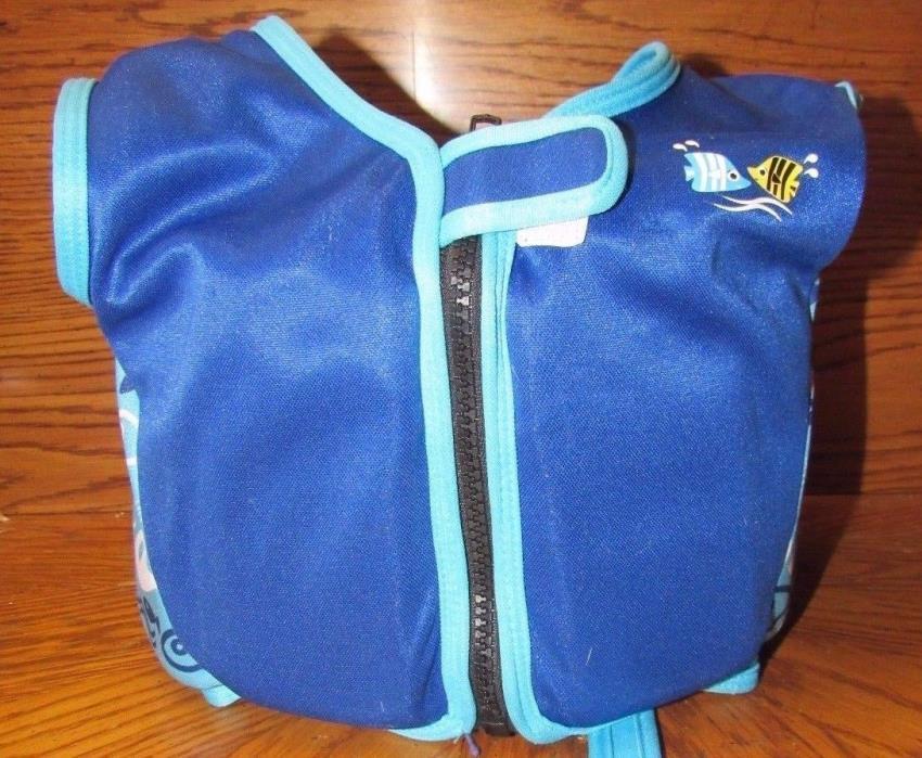 Sun & Sky Kids Blue Teal Swimming Floating Vest Size L Chest Size 27-28