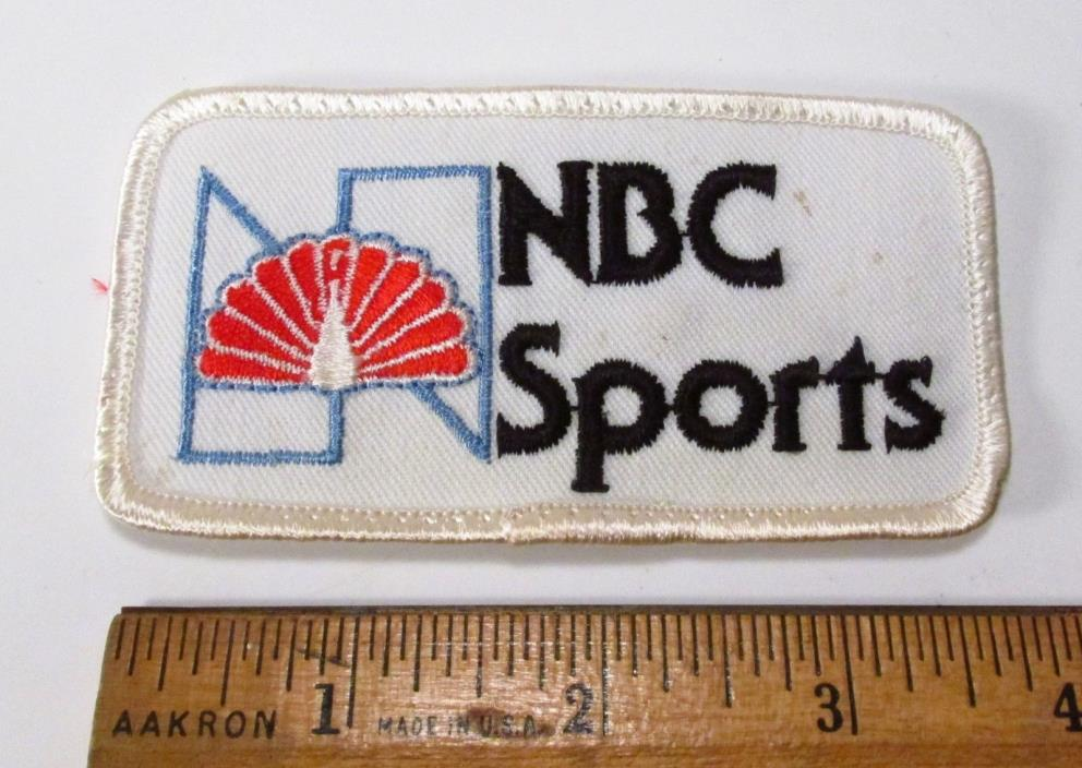 Vintage 1980s Era NOS NBC Sports TV Television Employee Uniform Jacket Hat Patch