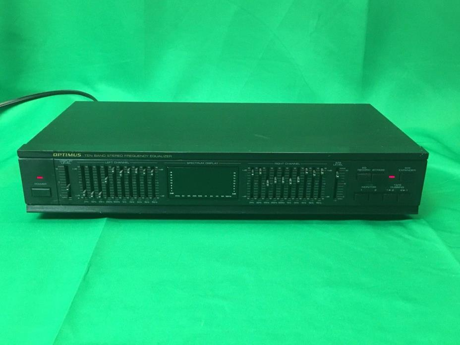 Optimus Ten Band Stereo Frequency Equalizer Model 31-2025     FREE EXP. SHIPPING