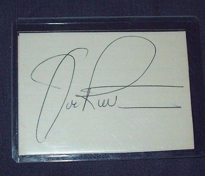 Nascar Driver Joe Ruttman Hand Signed Index Card