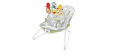Baby Bouncer Musical Chair Fisher-Price Set Cushion Comfort Toy Geo Meadow