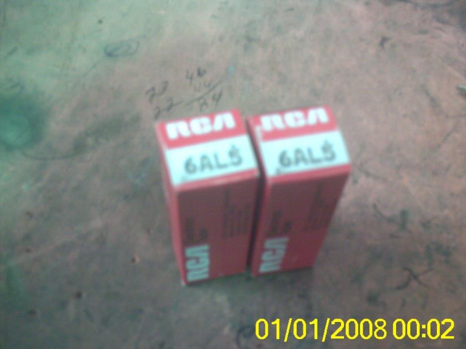 LOT 2  6AL5 SYLVANIA RCA NOS TUBES AMPLIFIER HAM RADIO ELECTRON TUBES