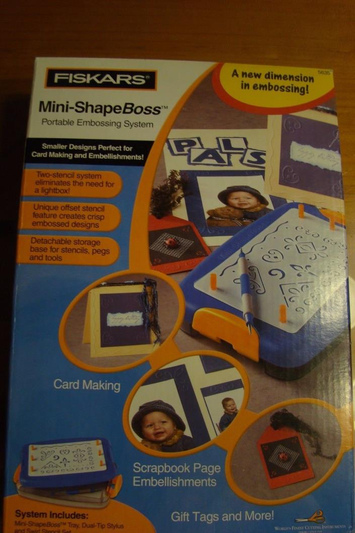 Fiskars Mini-Shape Boss Portable Embossing System