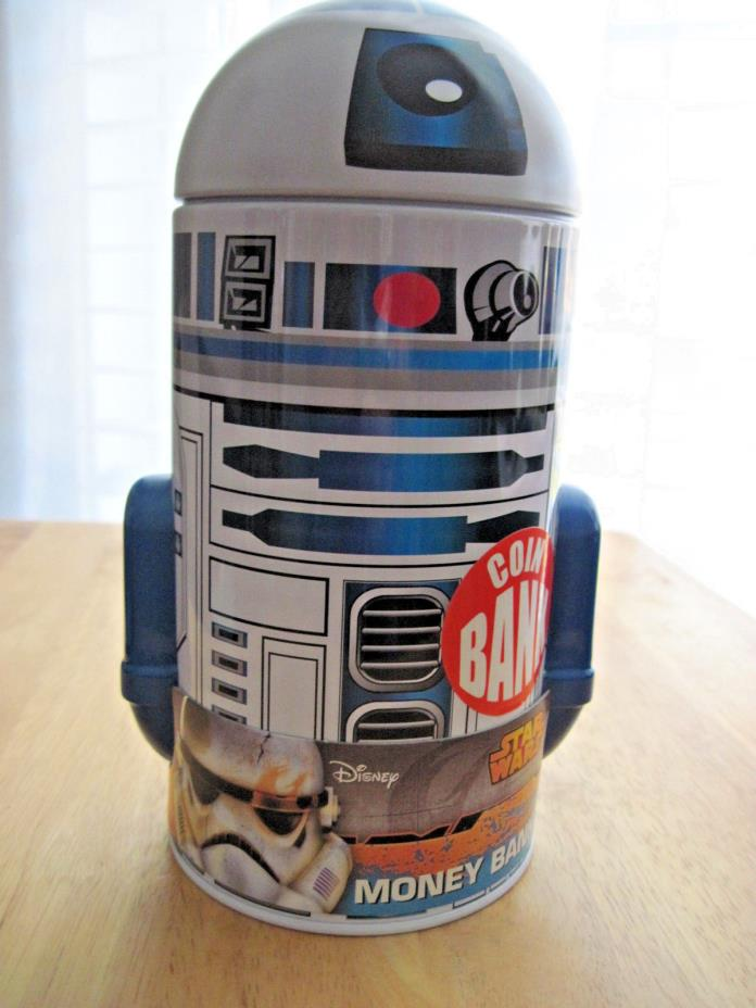STAR WARS R2-D2 Character Metal Coin Bank from The Tin Box Company 2015 New