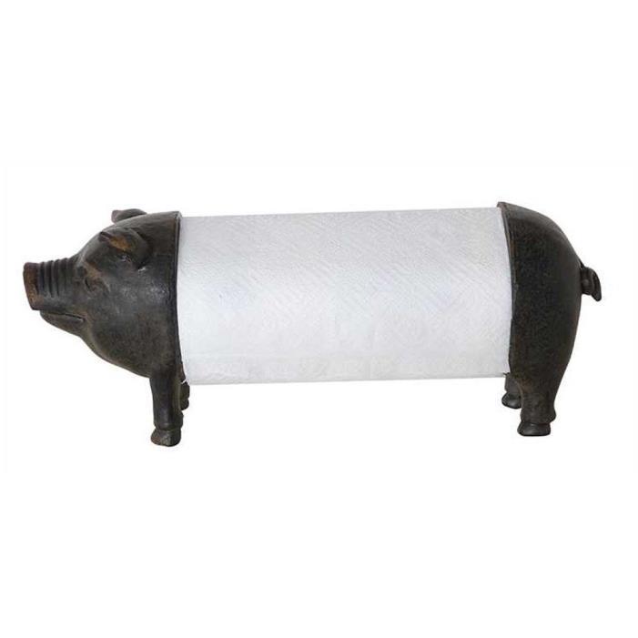 Pig Paper Towel Holder, Black