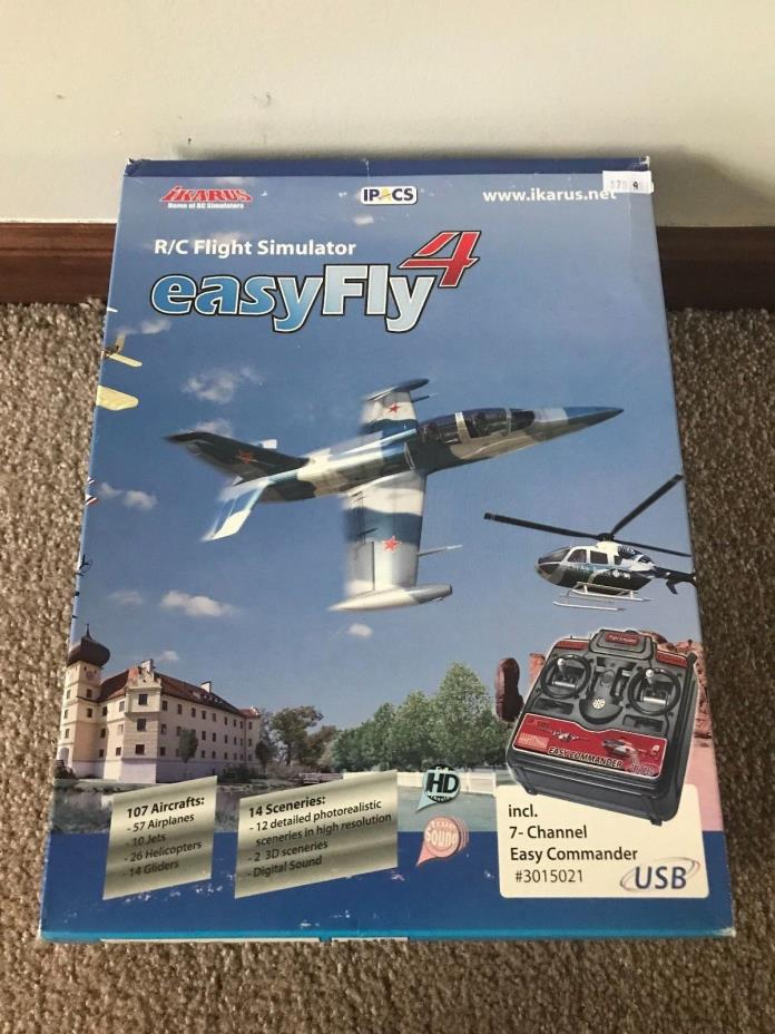 Brand New in Box Ikarus Easy Fly 4 RC Flight Simulator for Windows #3015021!!!
