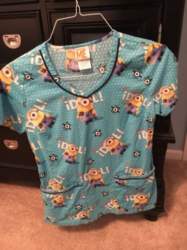 Pediatric Minion Scrub Top