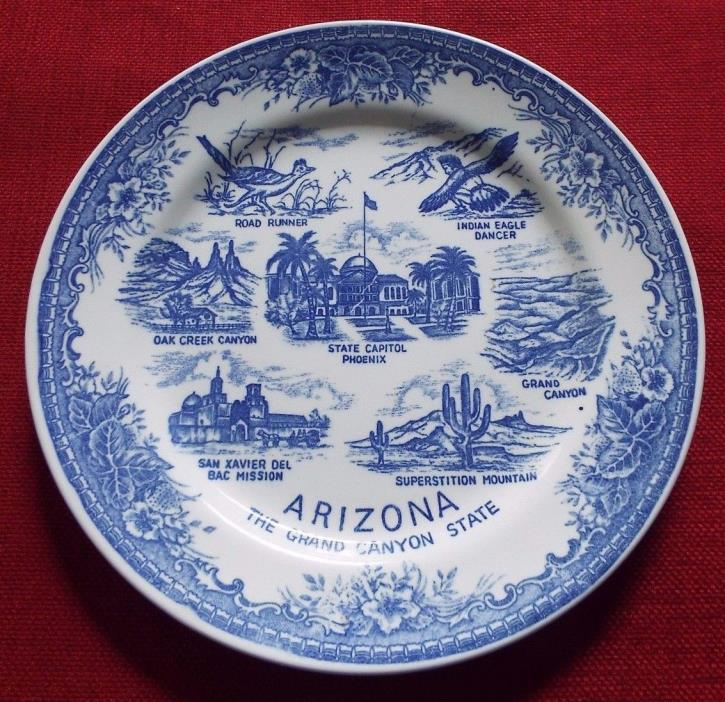 Vintage Blue Arizona Decorative Plate