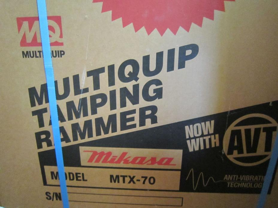 Multiquip Mikasa MTX 70 HD Rammer / Jumping Jack Tamper Compactor