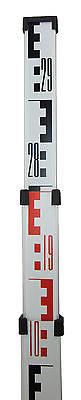 3 Meter (9 ft) Northwest Aluminum Survey Level Rod Stick Metric NAR09M