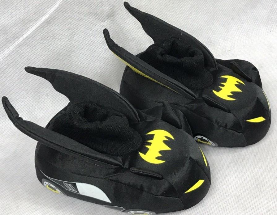 Batman Batmobile Toddler Boys Slippers Size 9/10 DC Comics Plush Slip-on Design