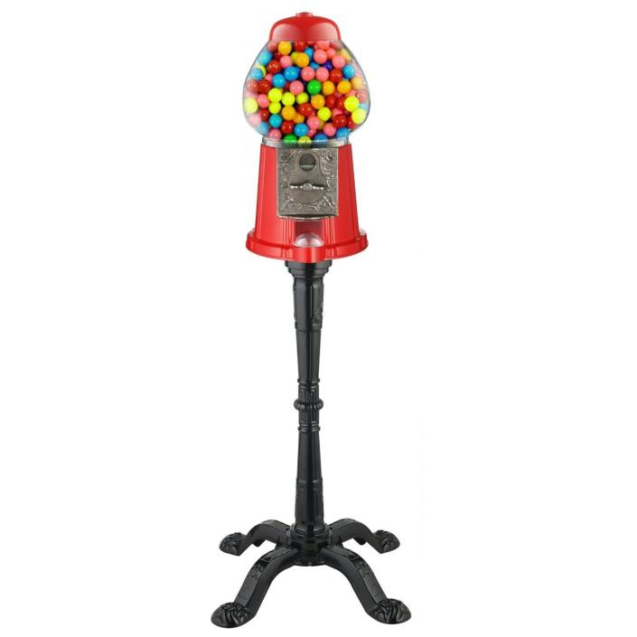 Vintage Candy Gumball Machine and Bank with Stand