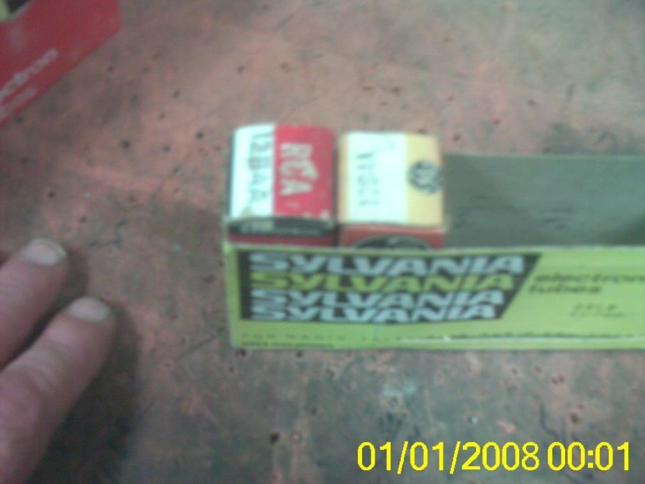 LOT 2  12B4A SYLVANIA RCA NOS TUBES AMPLIFIER HAM RADIO ELECTRON TUBES