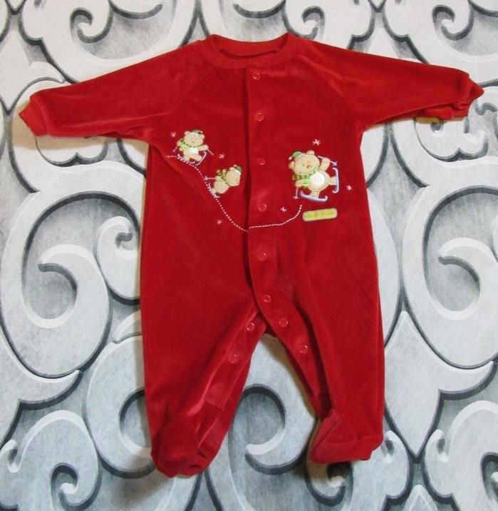 Baby's First Christmas Sleeper Carter's Infant 0-3 Months Bears Skies (N4-10)