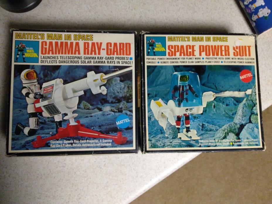 Mattel Major Matt Mason Gamma Ray Gaurd Power Suit BOXED