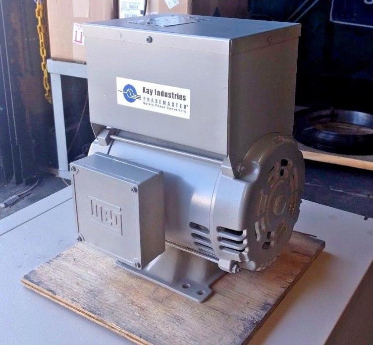 Kay Industries Rotary Phase Converter Cat# MA-0 3 HP  Reconditioned
