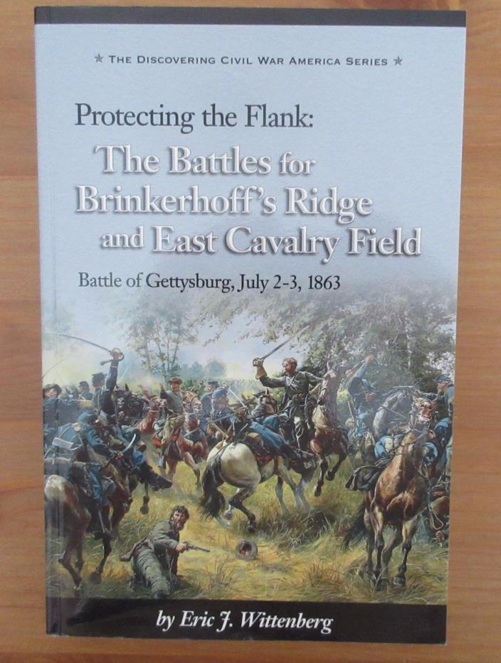 signed limited edition CIVIL WAR BOOK GETTYSBURG BRINKERHOFF'S RIDGE CAVALRY