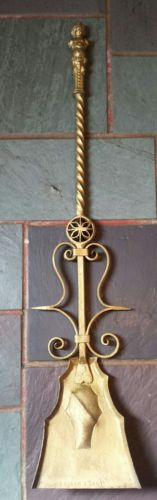 VINTAGE WROUGHT IRON FIREPLACE TOOL SHOVEL MADE IN ITALY